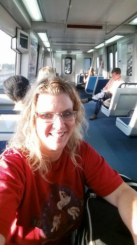 Kim Schultz on trip to Atlanta on the Marta