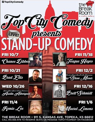 Topcity comedy Fall Shows