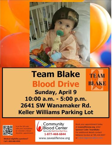 Team Blake Blood Drive